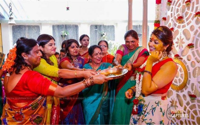 Meghana Raj Mehendi Ceremony Photos