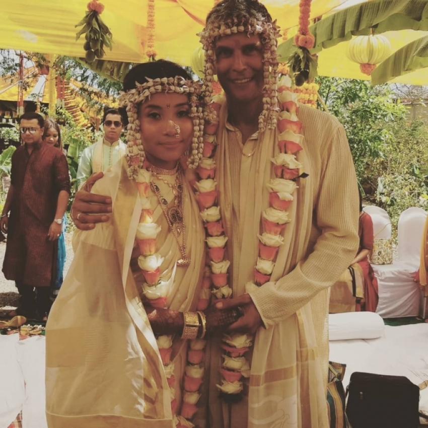 Milind Soman And Ankita Konwar Marriage Photos