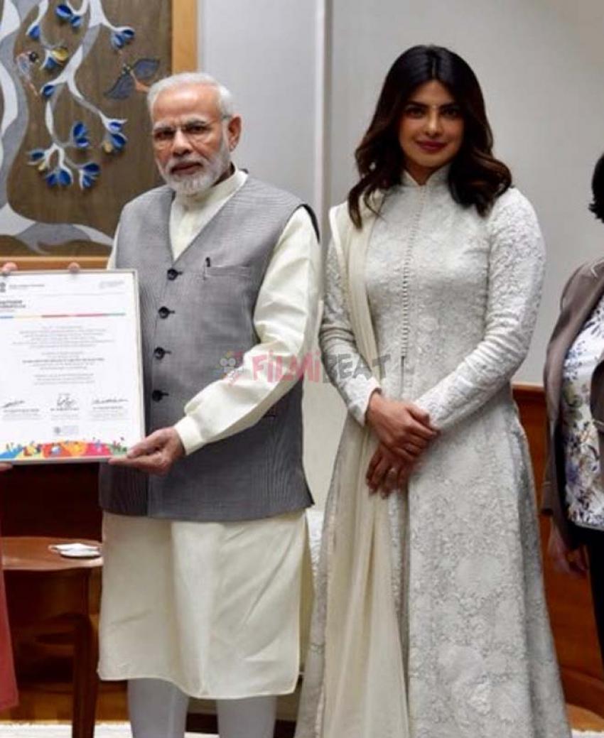 Priyanka Chopra Meets Pm Narendra Modi In Delhi Photos