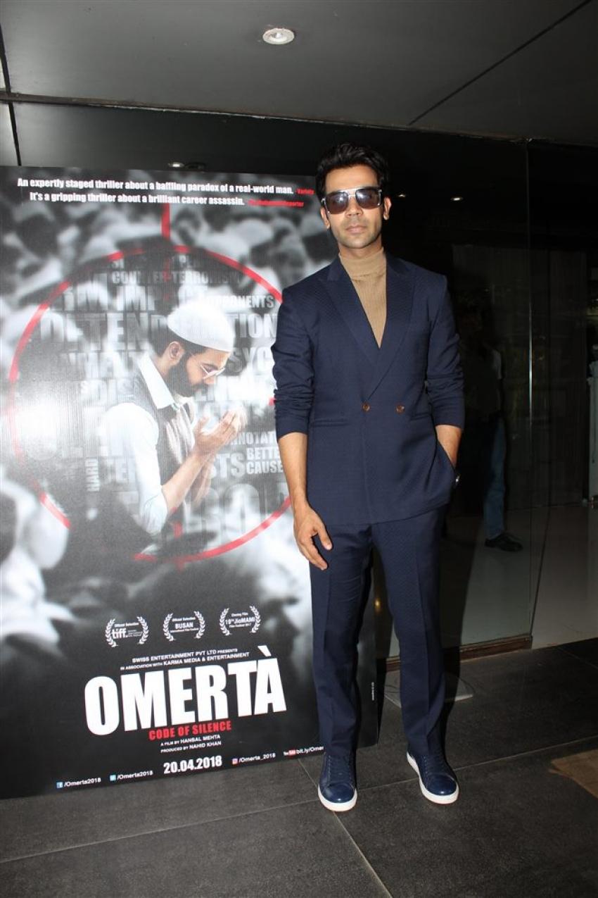 Rajkumar Rao Promotes Omerta In Mumbai Photos