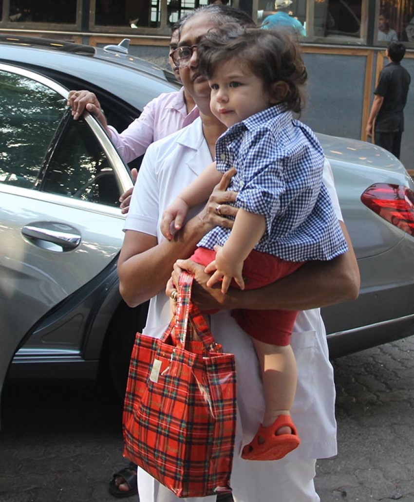 Taimur Spotted At Play School Photos