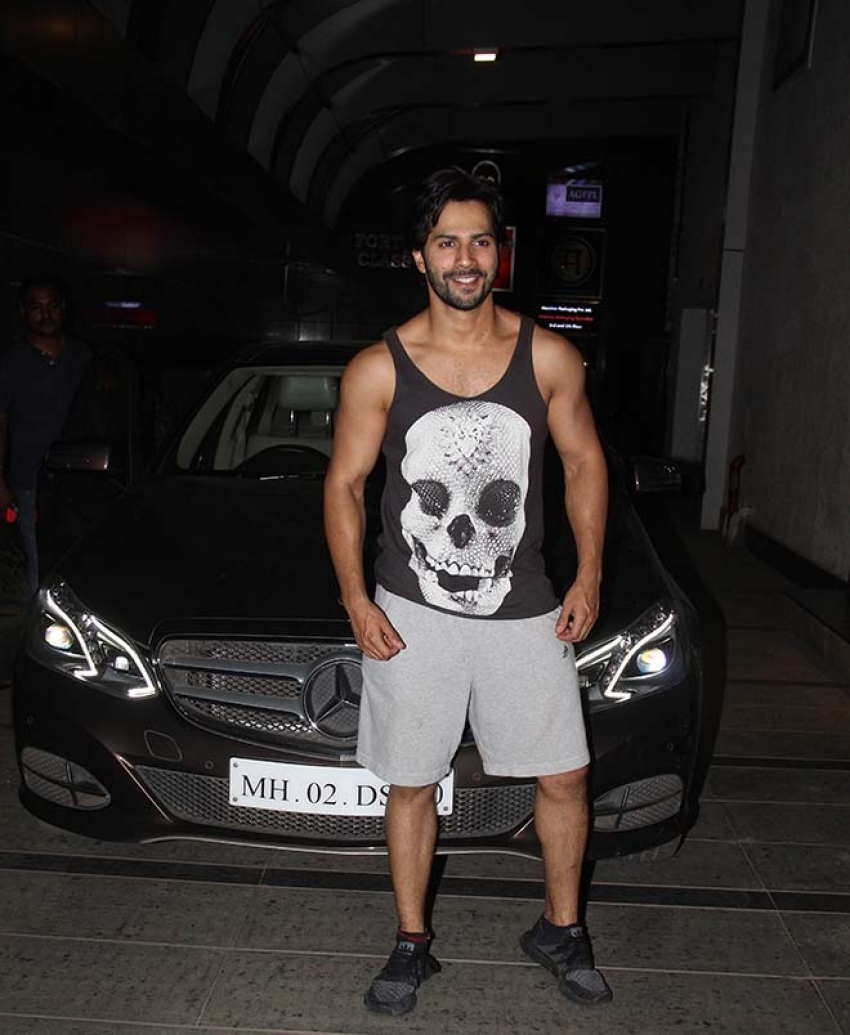 Varun Dhawan Spotted Outside Gym Photos