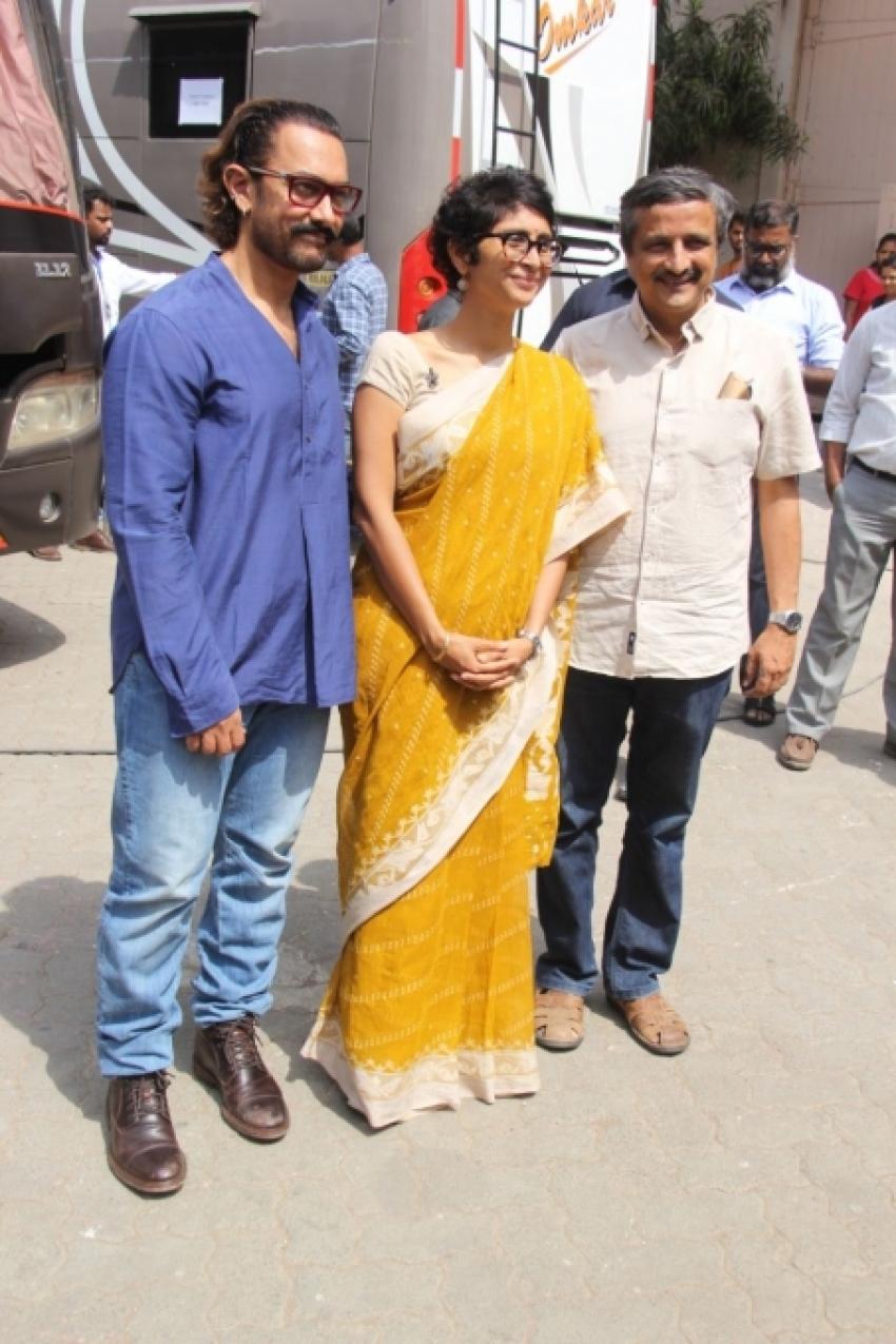 Aamir Khan With Maharastra CM For Pami Foundation Photos