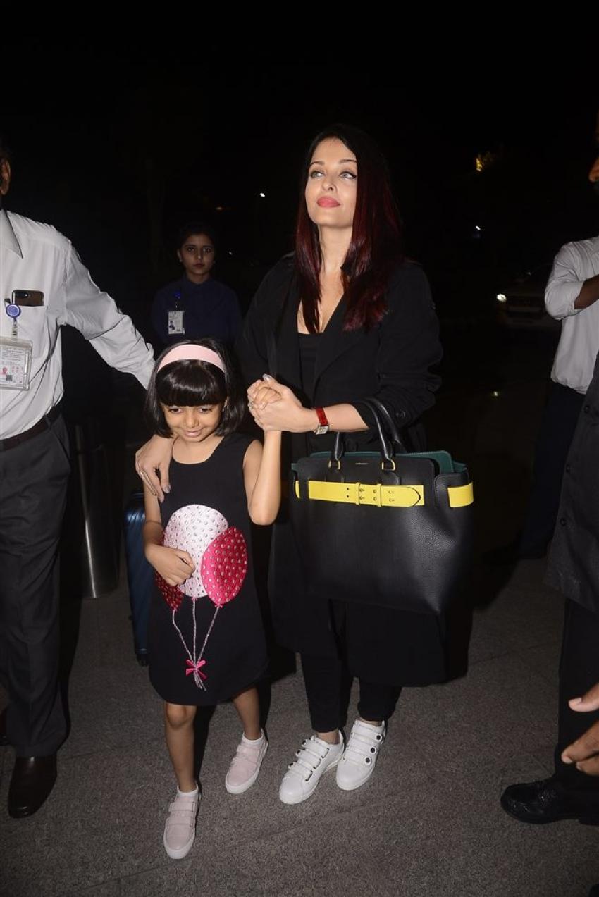 Aishwarya Rai Bachchan Leaves For Cannes 2018 Photos