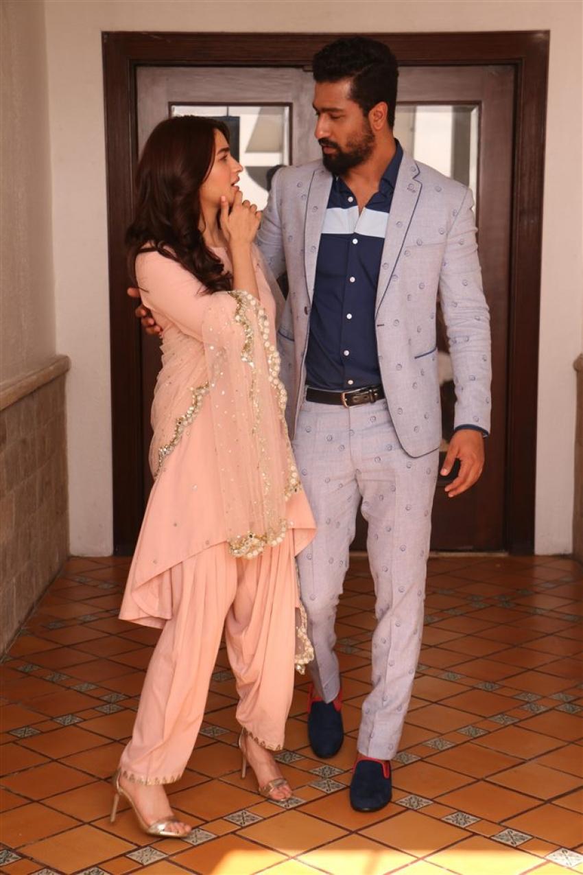 Alia Bhatt And Vikky Koushal Promoting Upcoming Movie Raazi Photos