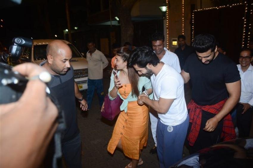 Celebs At Sonam Kapoor Sangeet Dance Pratice At Her Residence Photos