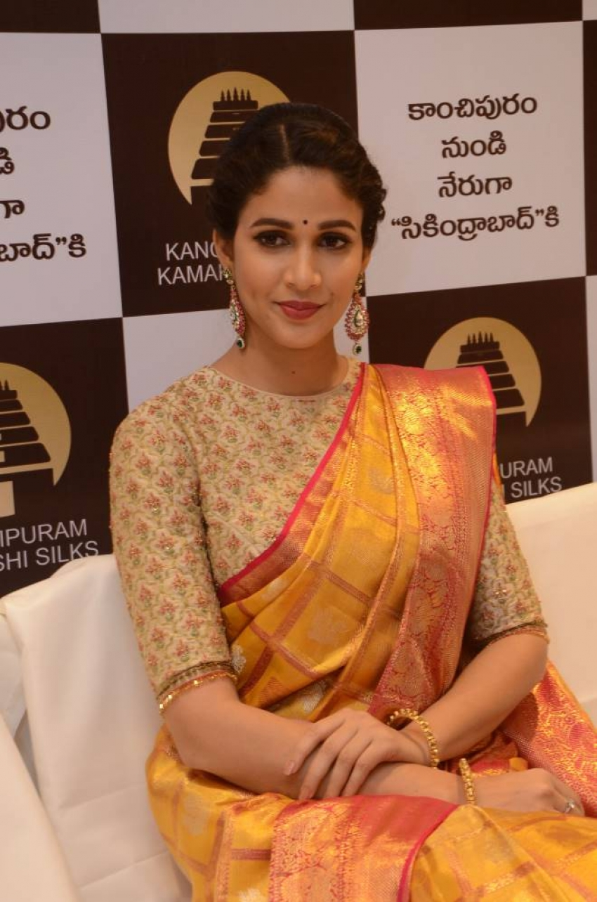 Lavanya Tripati Launches Kancheepuram Kamakshi Silks Photos