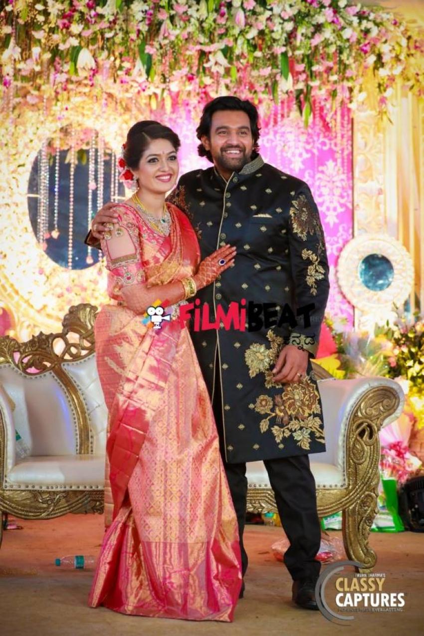 Meghana Raj Chiru Sarja Wedding Reception Photos