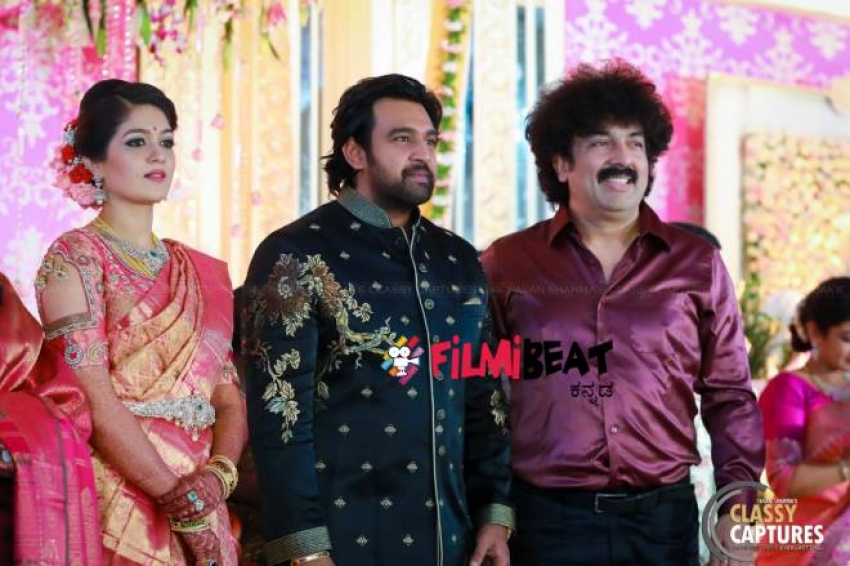 Meghana Raj & Chiru Sarja Wedding Reception Photos