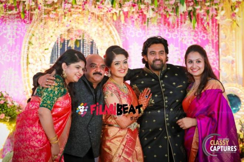Meghana Raj & Chiru Sarja Wedding Reception Photos