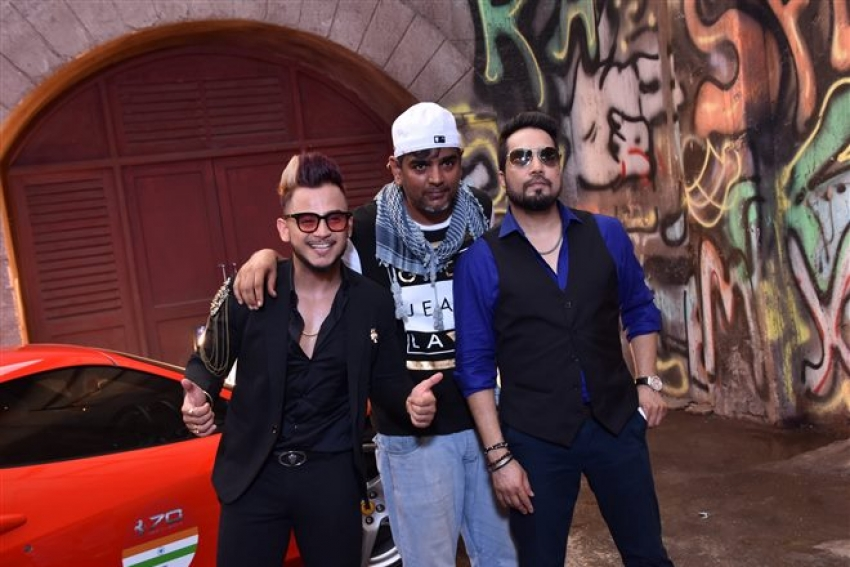 Mika Singh New Music Video Shoot Photos