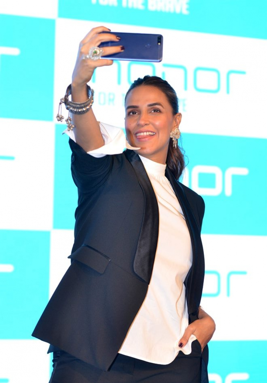 Neha Dhupia At launch Of Honor Mobile In New Delhi Photos