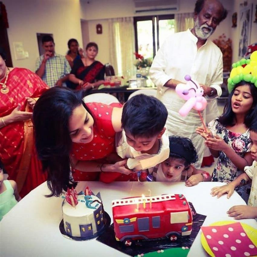 Rajinikanth Grandson Ved Birthday Celebration Photos