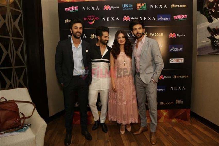 Ranbir Kapoor,Shahid Kapoor and Kartik Aryan at announcement of IIFA Awards Press Conference Photos
