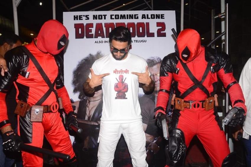 Ranveer Singh At Deadpool 2 Special Screening Photos