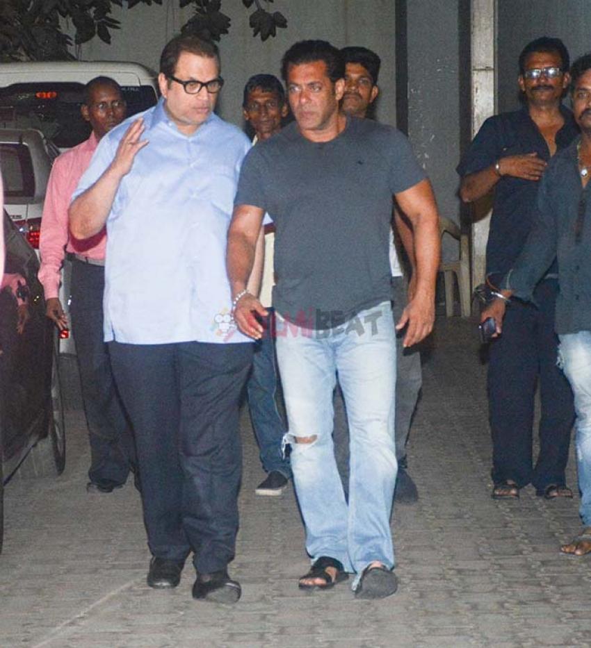 Salman Khan Spotted At Ramesh Torrani's Office Khar