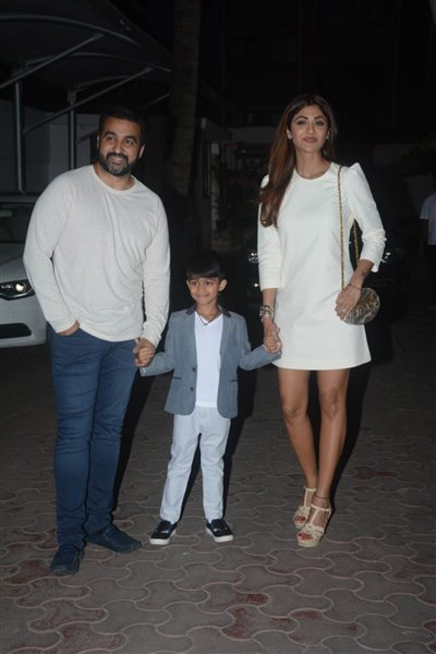 Shilpa Shetty And Raj Kundra With Birthday Boy Son Viaan Photos