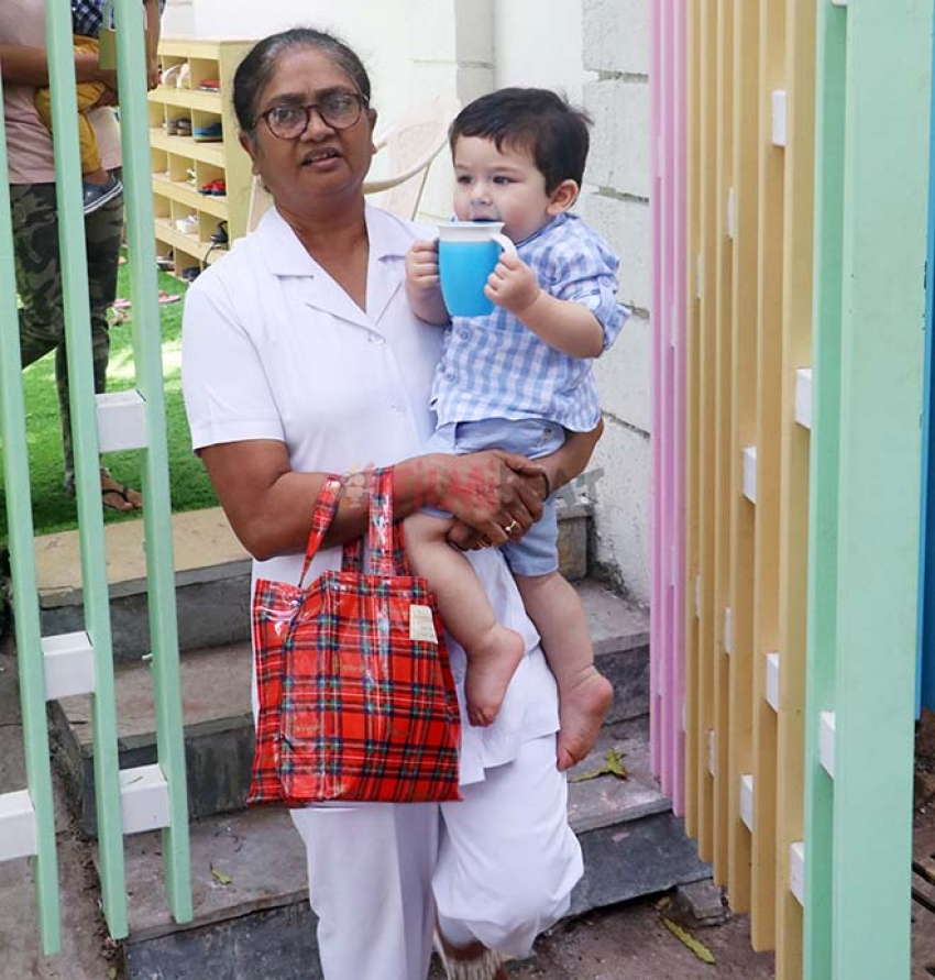 Taimur and Tusshar Kapoor With Son Laksh Spotted At Play School Bandra Photos