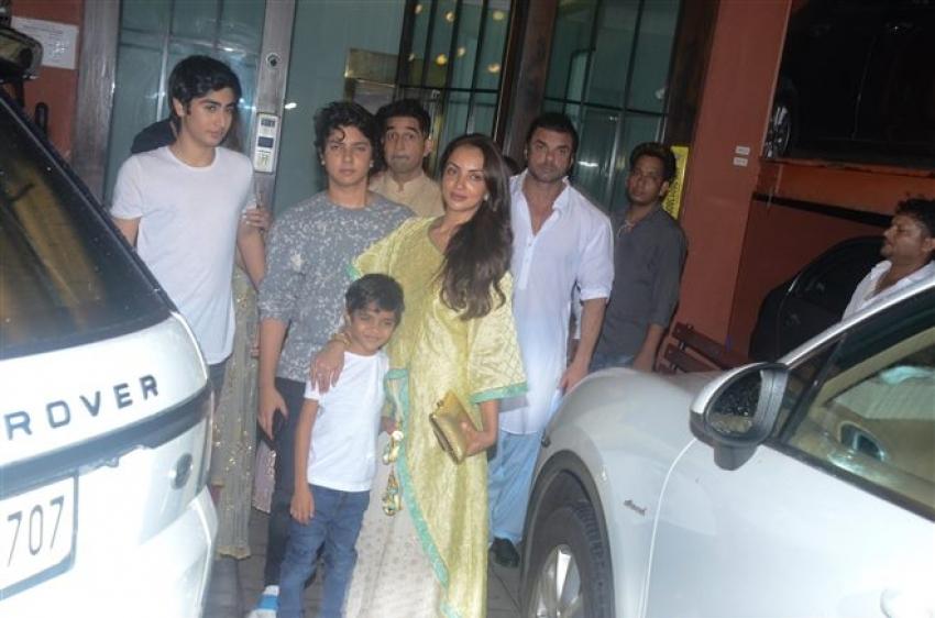 Aayush Sharma And Arpita Khan Sharma Eid Celebration 2018 Photos