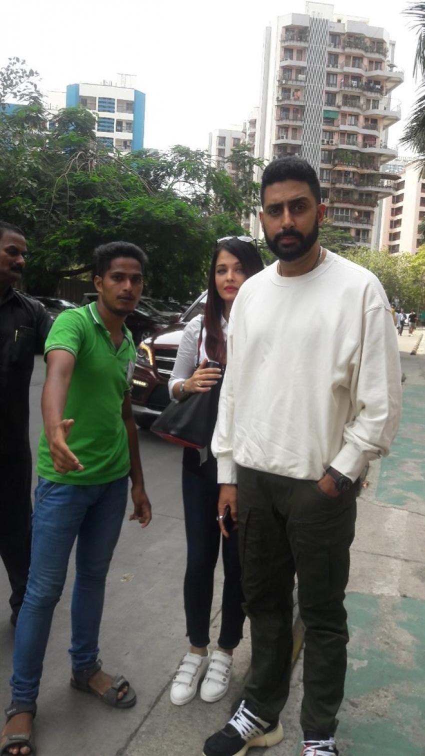 Aishwarya Rai  & Abhishek Bachchan Spotted BKC Bandra Photos