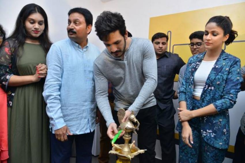 Akhil Akkineni & Lavanya Tripati Launches  Virtu Fitness Workout Hub Photos