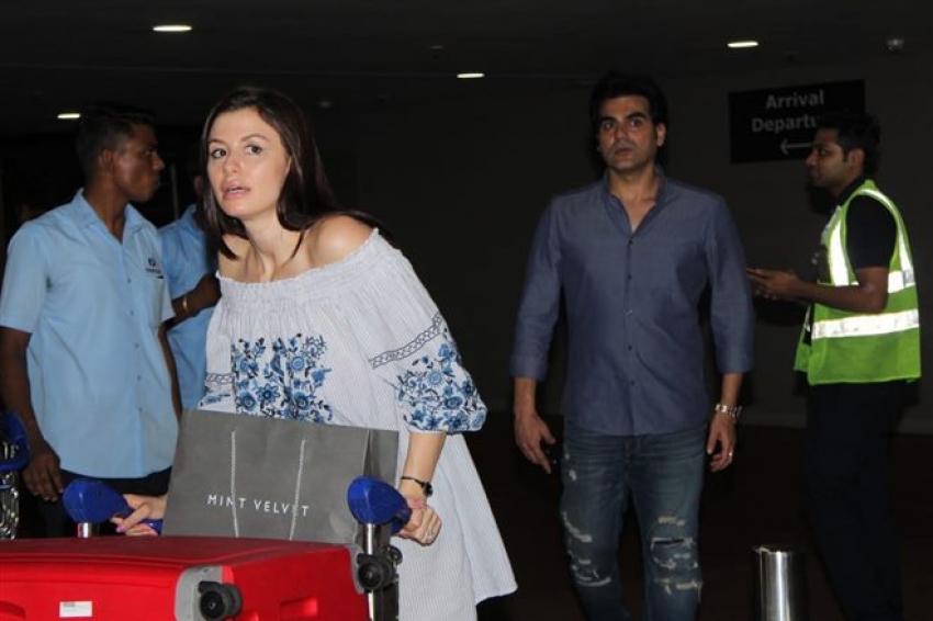 Arbaaz Khan With His Girlfriend At Airport Photos