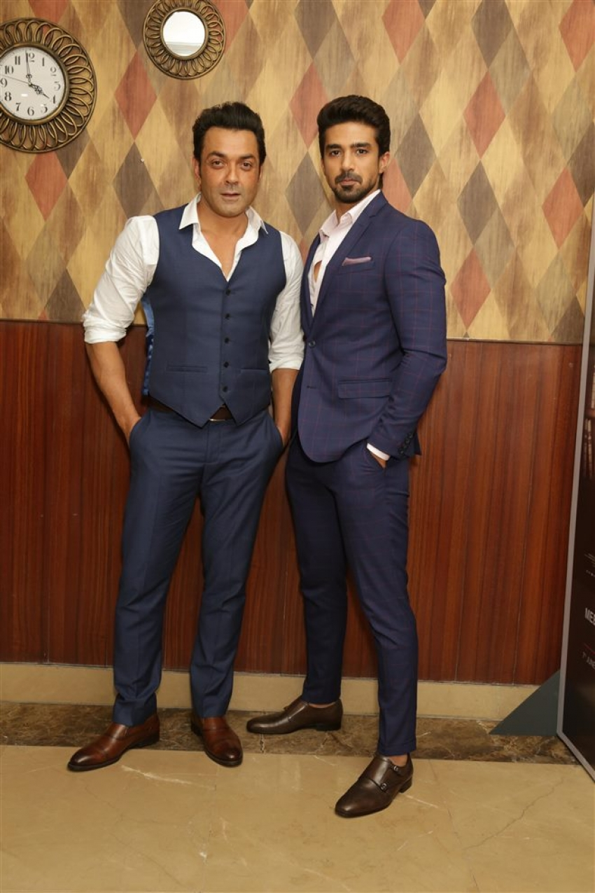 Boby Deol and Shaqib Saleem Promotes Race 3 in Delhi Photos