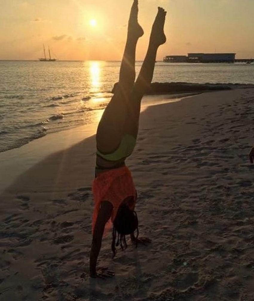 Celebs Doing Yoga During Yoga Day 2018 Photos