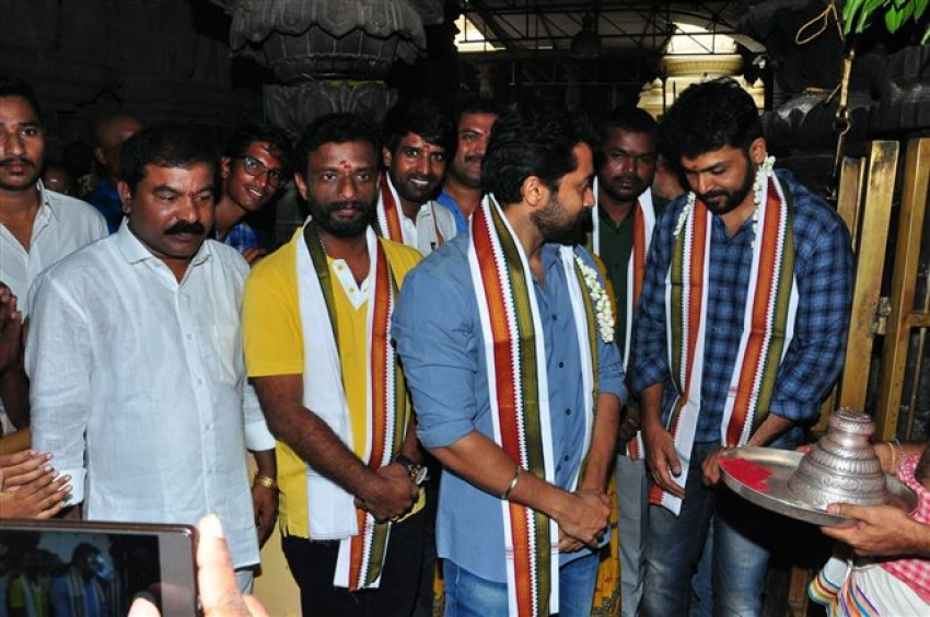 Chinna Babu Movie Team at Simhachalam Temple Photos