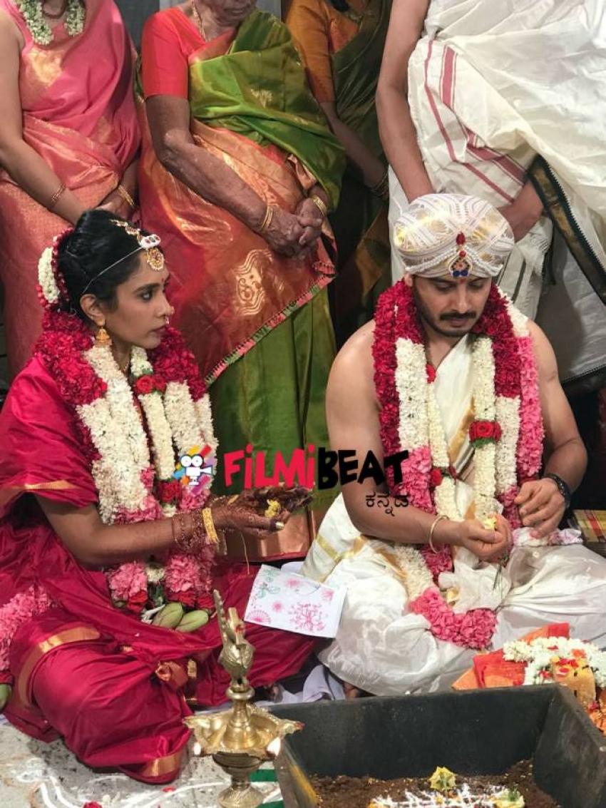 Kannada Actor Sunil Raoh & Shreya Iyer Marriage Photos