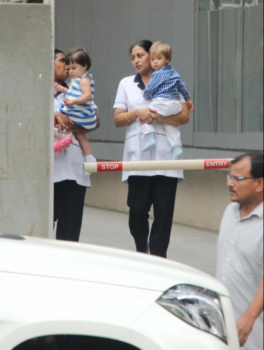 Karan Johar's Kids Yash And Ruhi Spotted At Bandra Photos