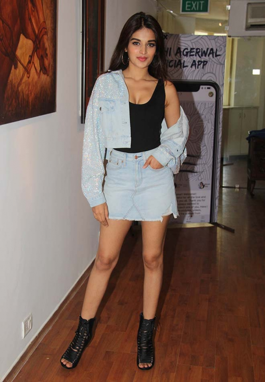 Nidhhi Agerwal Launches Her Own Mobile App Photos