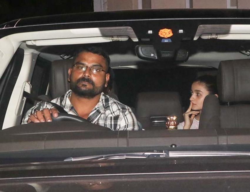 Ranbir Kapoor, Aliaa Bhatt And Ayan Mukherji Spotted At Mehboob Studio Bandra Photos