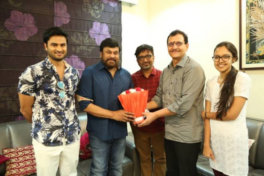 Sammohanam Team Celebrates Success With Megastar Chiranjeevi Photos
