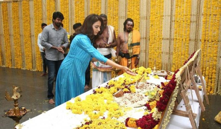 Sivakarthikeyan's Most Expected SK 14 Takes Off With Ritual Pooja Photos