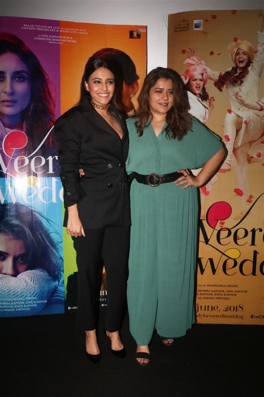 Veerey Di Wedding.Swara Bhaskar And Shikha Talsania Promote Veerey Di Wedding Photos