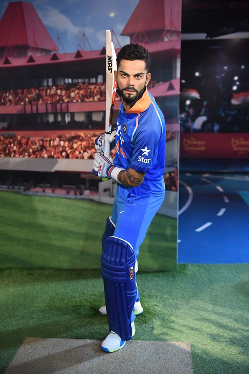 Virat Kohli Statue At Madame Tussauds Photos