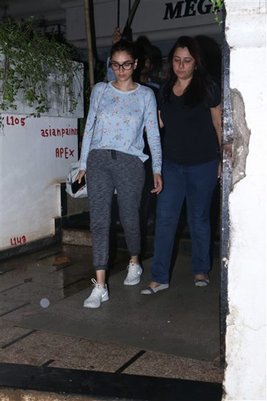 Aditi Rao Hydari and Huma Qureshi Spotted At Shrishti Behl Aarya's Home Photos