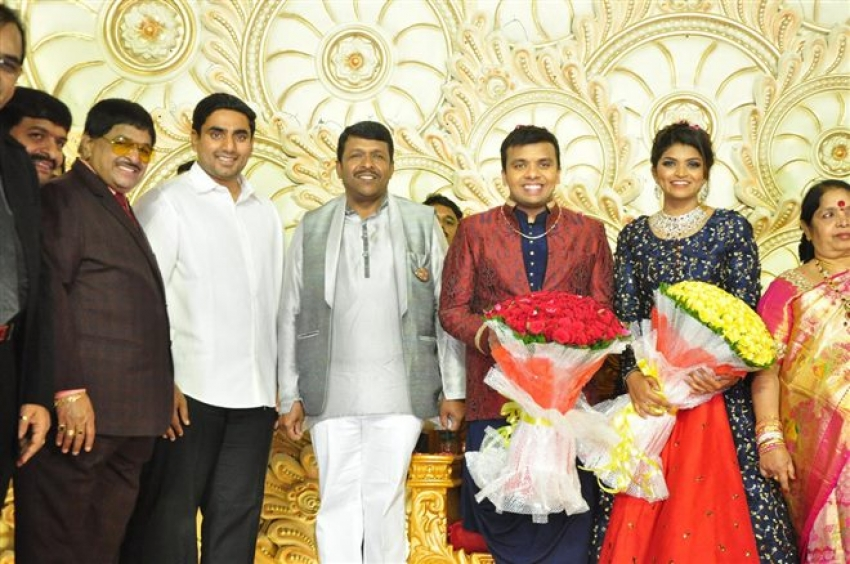 Ambica Vinayaka Surya Kumar And Preethika Lakshmi Wedding Receiption Photos