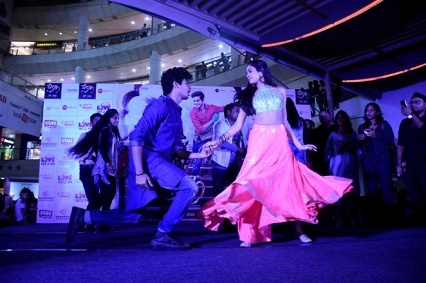 Dhadak Movie Promotion In Lucknow Photos