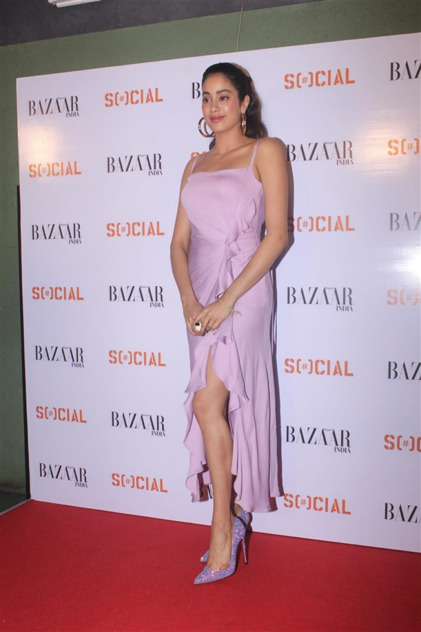 Janhvi Kapoor And Ishaan Khatter For The Launch Of Harper's Bazaar Photos
