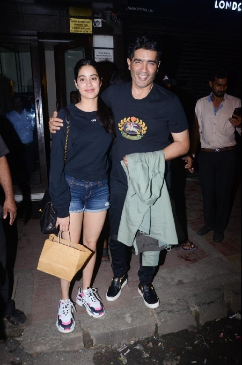 Janhvi Kapoor With Manish Malhotra Spotted At Bastian Bandra Photos