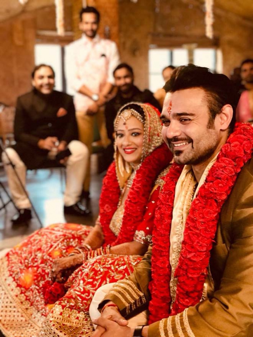 Mithun Chakroborty's Son Mahaakshay Chakroborty Weds Madalsa Sharma Photos