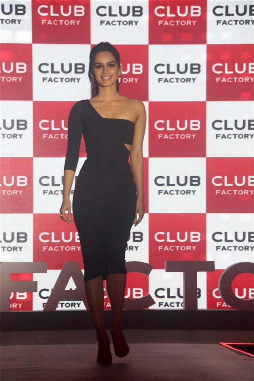 Manushi Chhillar At Launch Of Club Factory TVC Photos