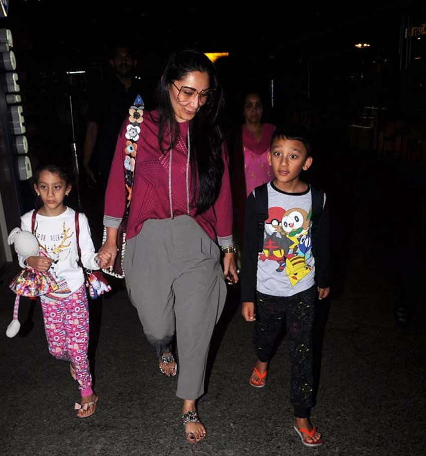 Manyata Dutt Spotted With Her Kids Photos