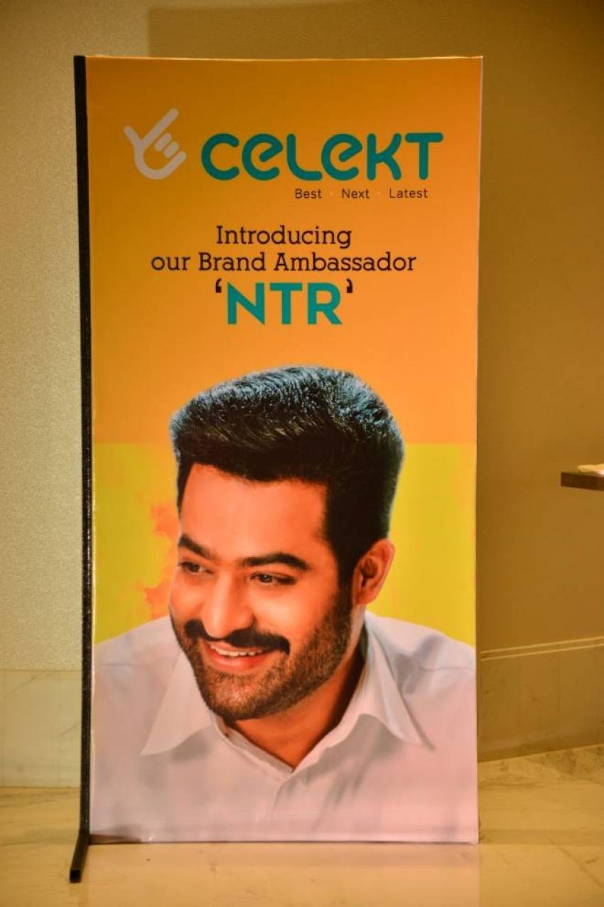 NTR Launched Celekt Mobiles Logo As Brand Ambassador Of The Company Photos
