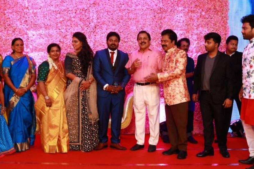 Pandiarajan Son Wedding Reception Photos