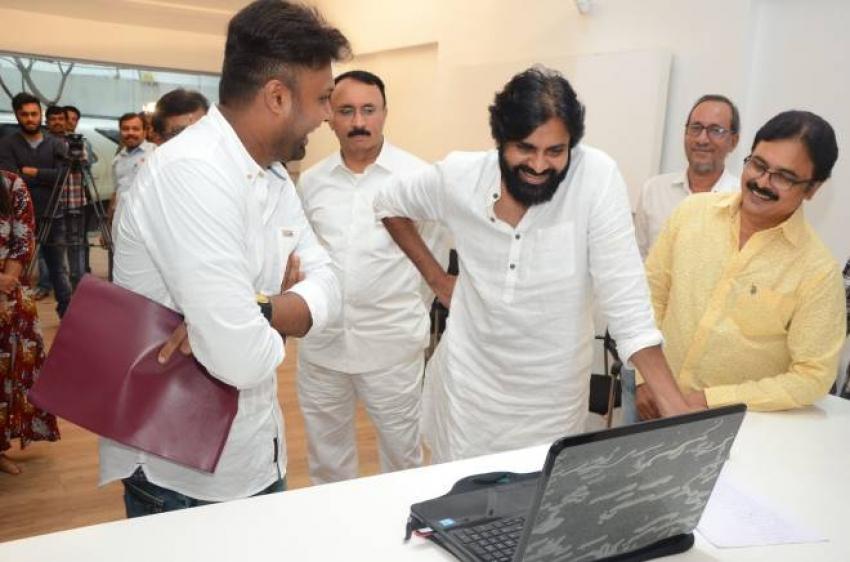 Pawan Kalyan Launched Aatagadhara Siva Yettaagayya Shiva Song Photos