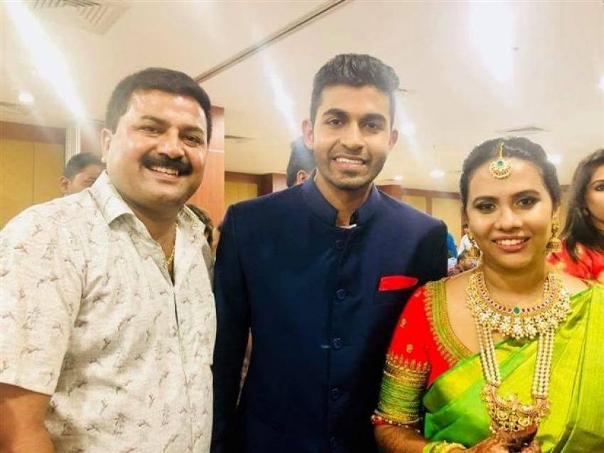 Rajkumar Grandson Yuva Rajkumar Engagement Photos