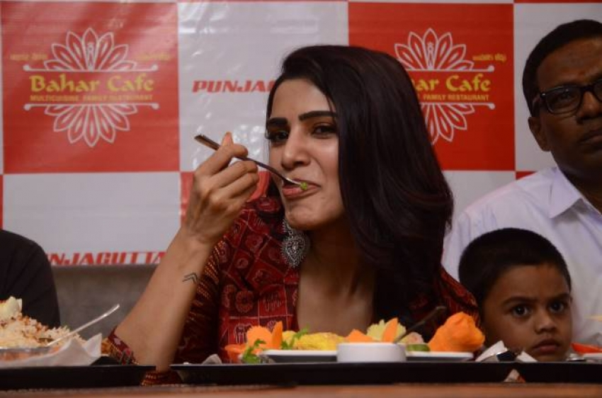 Samantha Akkineni Launches Cafe Bahar Restaurant At Panjagutta Photos
